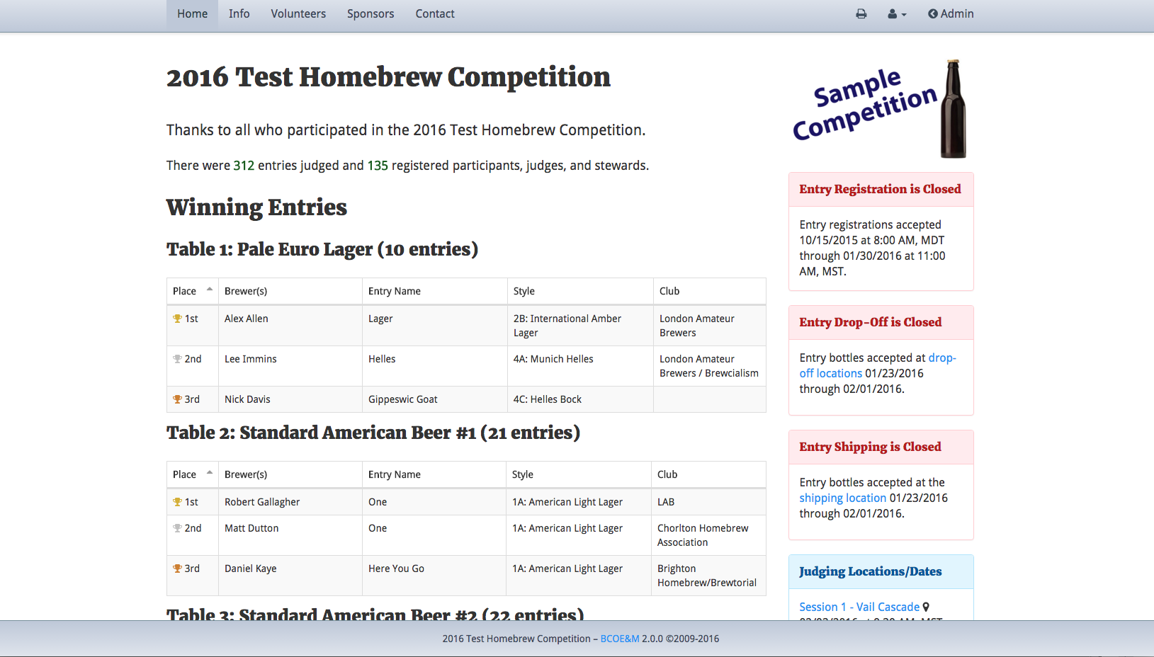 Brew Competition Online Entry & Management - Gather Homebrew